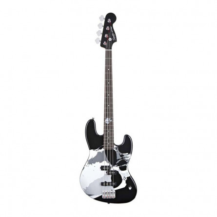 Fender Squier Frank Bello Jazz Bass Guitar Black