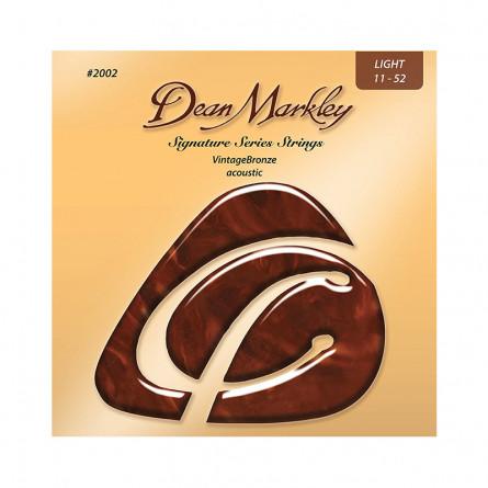 Dean Markley DMK 2002 Acoustic Guitar Strings Vintage Bronze 11-52