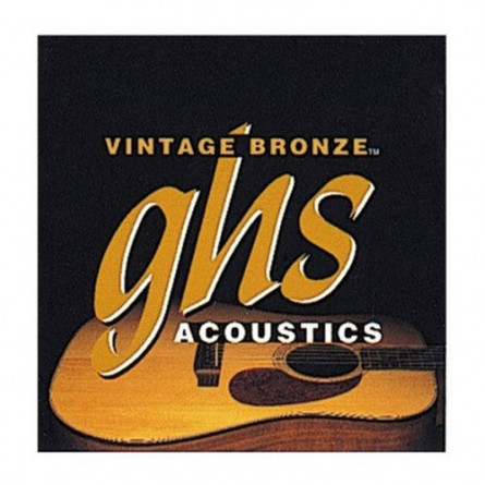 GHS VN-UL Acoustic Guitar String Set Ultra Light Vintage Bronze 10 -46