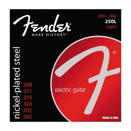 Fender 250L Electric Guitar Strings NPS Ball End 9 -42