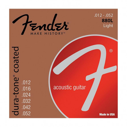 Fender 880L Acoustic Guitar Strings 80/20 Coates 12 -52