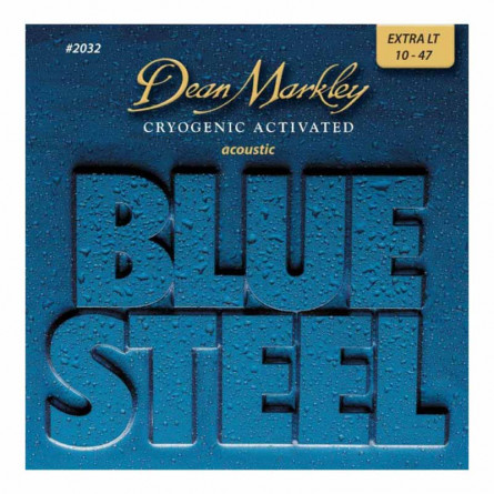 Dean Markley 2032 Blue Steel Cryogenic XL Acoustic Guitar Strings 10 -48