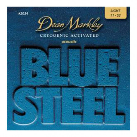 Dean Markley 2034 Blue Steel Cryogenic Light Acoustic Guitar Strings 11 -52