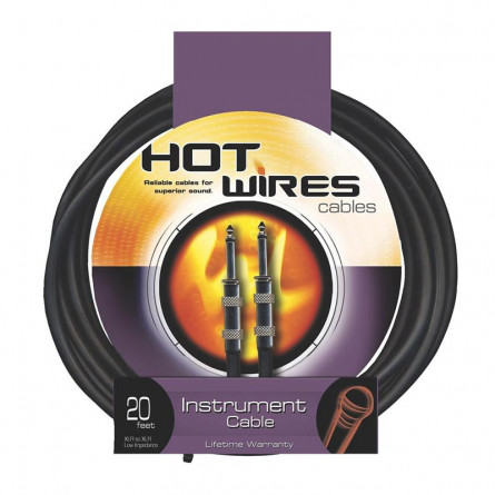 On Stage HW-IC-20 Hot Wires Standard Instrument Cable 20
