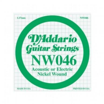 D'Addario Guitar Strings Single Nickel Wound 046 NW046