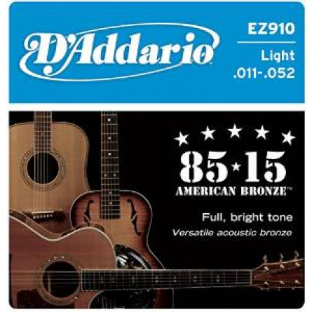 D'Addario Acoustic Guitar Strings 85/15 Bronze 011- 052 Set EZ910