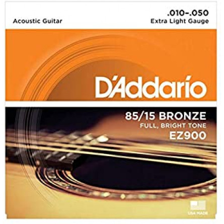 D'Addario Acoustic Guitar Strings 85/15 Bronze 010- 050 Set EZ900