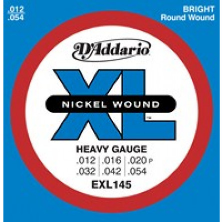 D'Addario Electric Guitar Strings XL Nickel  012- 054 Set EXL-145