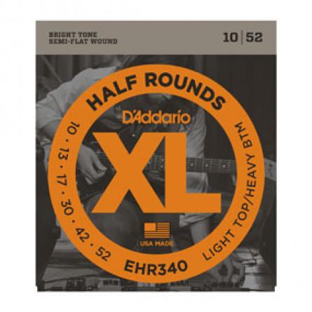 D'Addario Guitar Strings Half Round Regular Lite Heavy Set EHR340