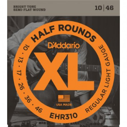 D'Addario Guitar Strings Half Round Regular Lite Set EHR310
