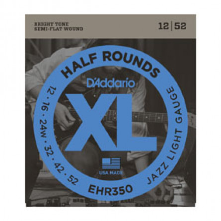 D'Addario Guitar Strings Half Round Jazz Lite Set EHR350