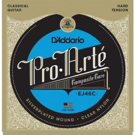 D'Addario Classical Guitar Strings Pro Arte Composite Hard Clear Set EJ46C