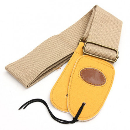 Granada, Guitar Strap, Nylon with Leather Ends Beige