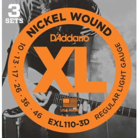 D'Addario Electric Guitar Strings XL Nickel .010-.046 - Set EXL110