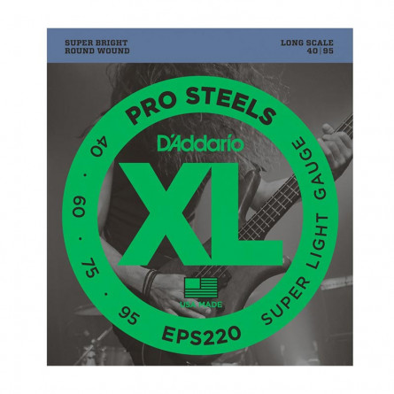 D Addario Bass Strings Pro Steel 040 -095 Set EPS220