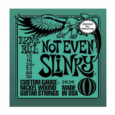 Ernie Ball 626 Nickel Not Even Slinky Drop Tuning Electric Guitar Strings