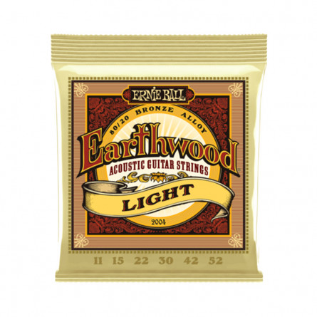 Ernie Ball 2004 Earthwood 80 -20 Bronze Acoustic Guitar Strings