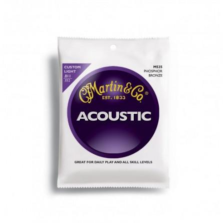 Martin M140 Bronze Acoustic Guitar Strings Light