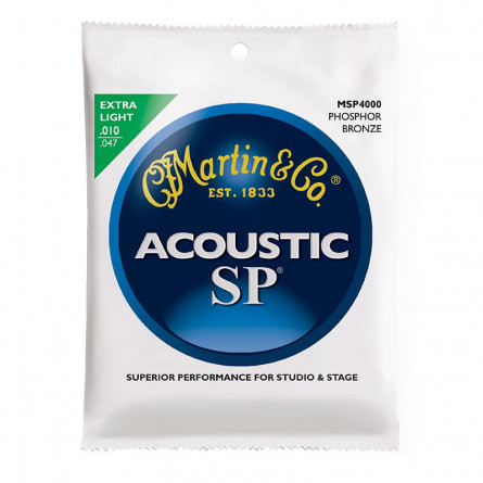 Martin MSP4000 Phosphor Bronze Extra Light Acoustic Guitar Strings
