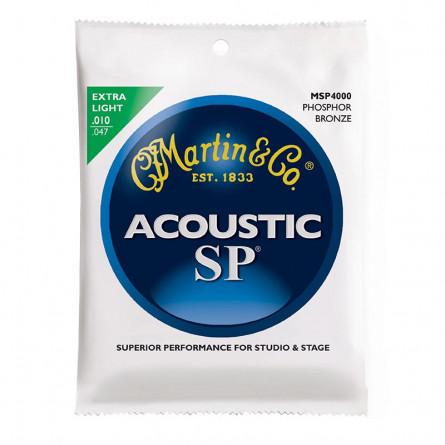 Martin MSP4000 Phosphor Bronze Extra Light Acoustic Guitar Strings
