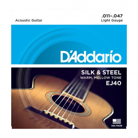 D Addario Acoustic Guitar Strings Silk & Steel Set EJ40