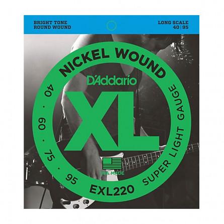 D Addario Bass Strings XL Nickel .040-.095 - Set EXL220