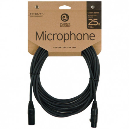 Planet Waves Microphone Cable Classic Series XLR Male to XLR Female 25 Ft PW CMIC-25