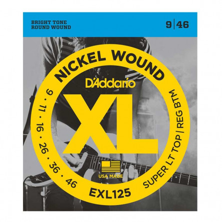 D Addario Electric Guitar Strings XL Nickel .009-.046  Set EXL125