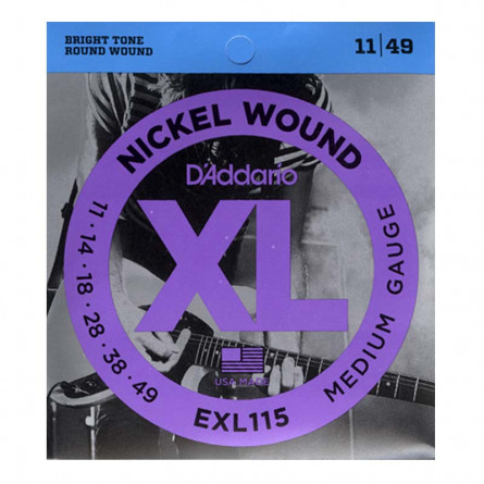D Addario Electric Guitar Strings XL Nickel .0011-.049 Set EXL115
