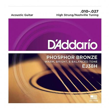 D Addario Acoustic Guitar Strings Nashville Tuning .010 -.027 High EJ38H