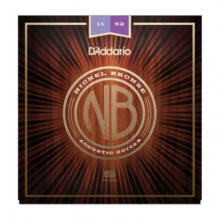 D Addario Acoustic Guitar Strings Nickel Bronze .011-.052  Set NB1152