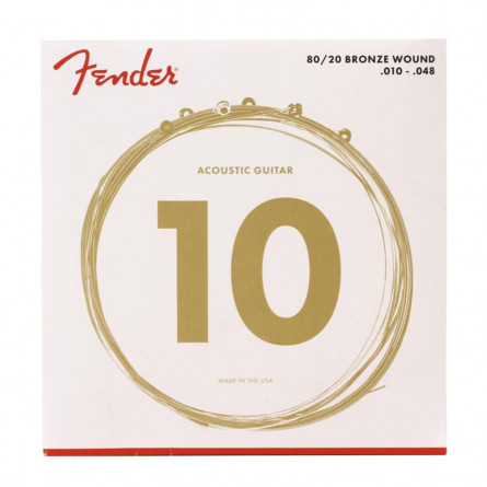 Fender 70XL Acoustic Guitar strings 80-20 Coated 10 -48