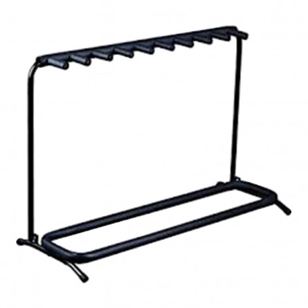 RockStand RS 20863 B/1 Multiple Guitar Rack Stand for 9 Electric/Bass Guitar Rack Stand Black