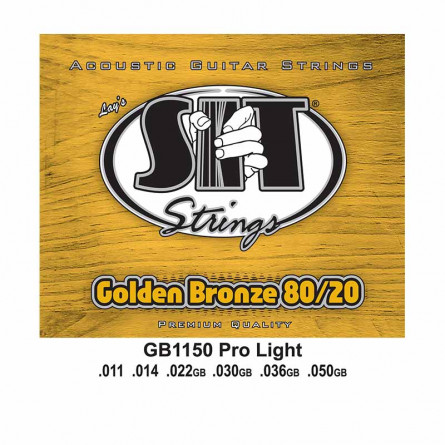 SIT GB1150 Golden Bronze Pro Light Acoustic Strings Set 11-50