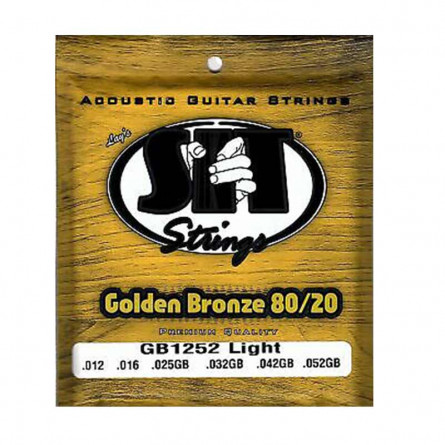 SIT GB1252 Golden Bronze Acoustic Guitar Strings Set 12-52