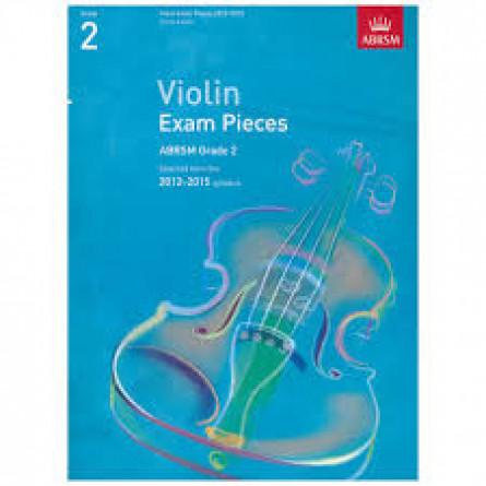 AB Violin Examination Pieces 2012 to 2015 Grade 2