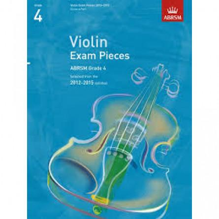 AB Violin Examination Pieces 2012 to 2015 Grade 4