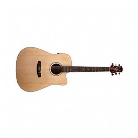 Ashton D20 CEQ NTM Semi Acoustic Guitar with EQ Natural Matte