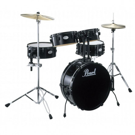 Pearl RTX705HBC Drum Set New Rhythm Traveler with Hardware Black