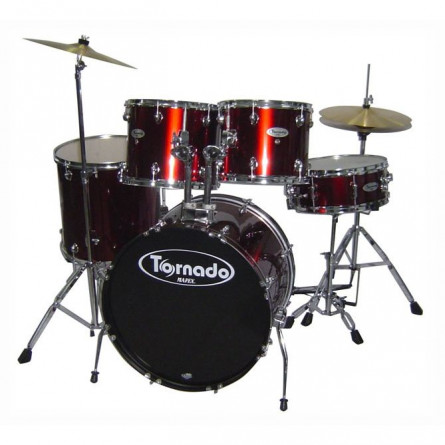 Mapex Tornado TND5254TCDR Drum Set 5 pcs With Hardware Throne and Cymbals Wine Red