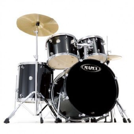 Mapex Voyager VR5254BDK Drum Set 5 Pcs with Black Hardware Black