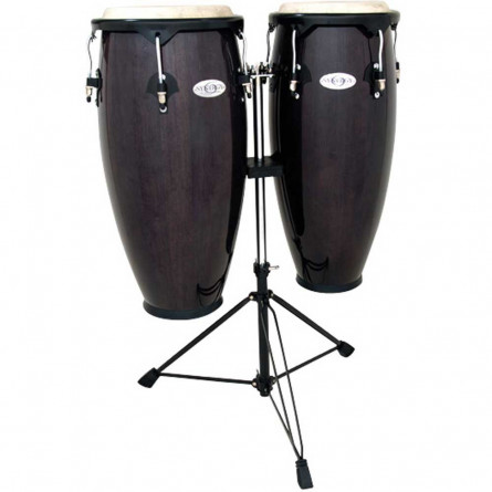 Toca Conga Set Synergy Series 10 Inches and 11 Inches with Stand -Blue