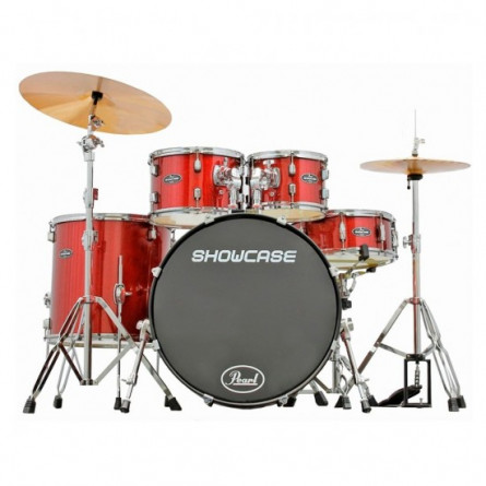 Pearl Showcase SCX325S/C Drum Set 5 Pcs  With Hardware And Throne Red Sparkle