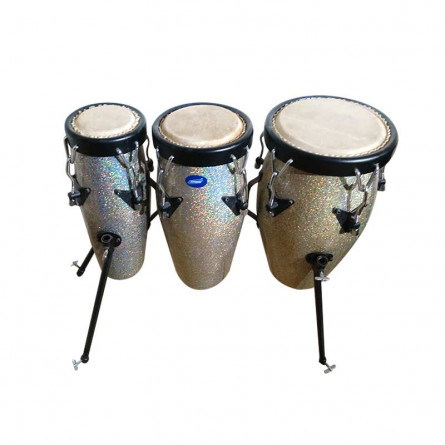 Musikshack Special Fiber Conga Set 20x6x8x10 with Stand