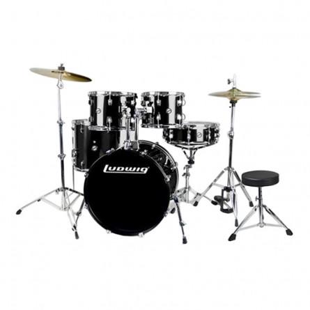 Ludwig Accent Drive LC 1751 DIR 5 Pcs Drum Kit Black