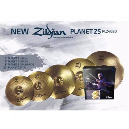 Zildjian PLZ4680 Cymbals, PLANET Z 5 PACK (14,16,18,20)