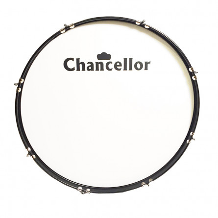 Chancellor JBMB2812 Marching Bass Drum, With Harness 28 Inches White