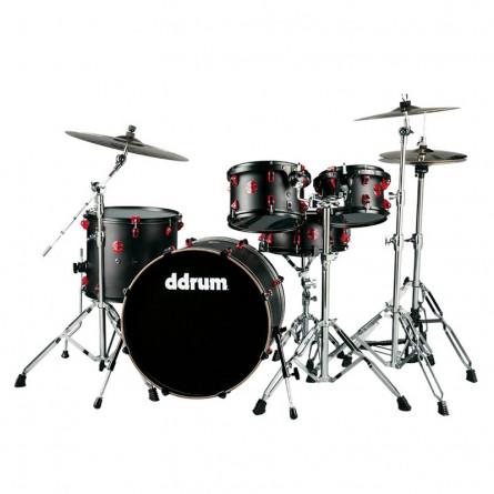 Ddrum Hybrid Drum Set 6 Pcs Shell Pack without Hardware Satin Black