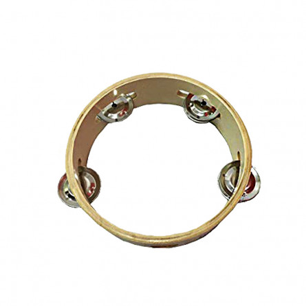 Filia T6-4 Hand Tambourine Wooden 15 Inches Natural