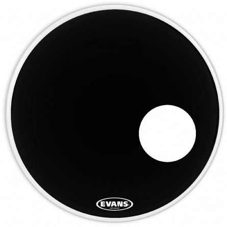 Evans BD22RB Bass Drumhead EQ3 Resonant with Hole 22 Inches Black